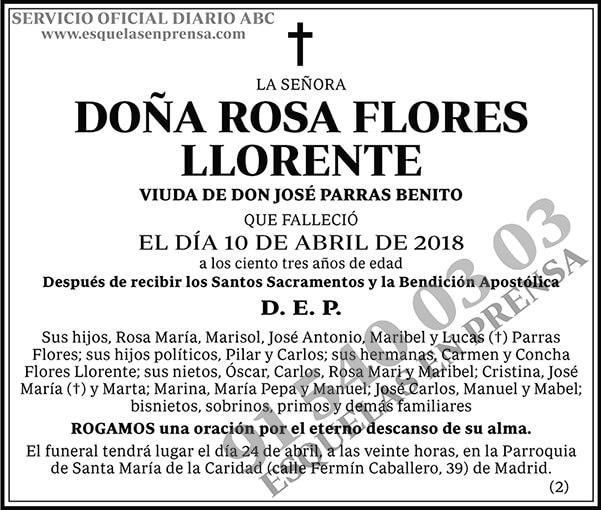Rosa Flores Llorente